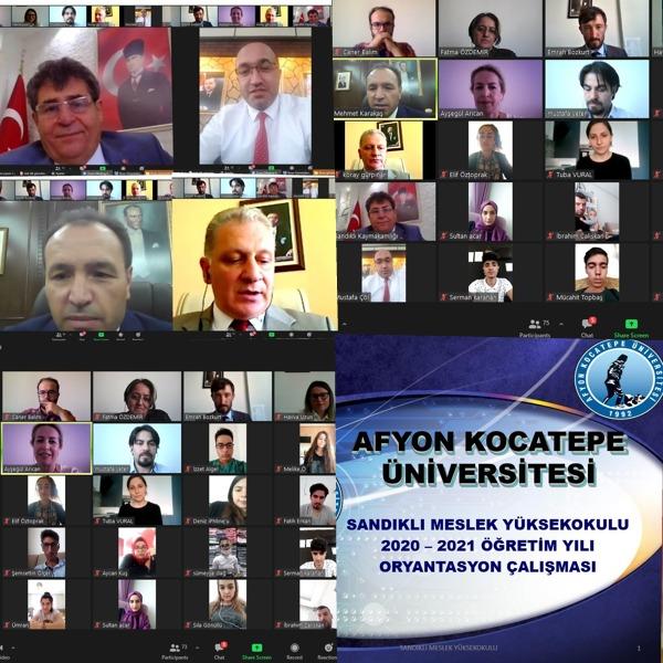 Sandıklı MYO'yu Kazanan Öğrencilere Çevrimiçi Oryantasyon Programı Düzenlendi