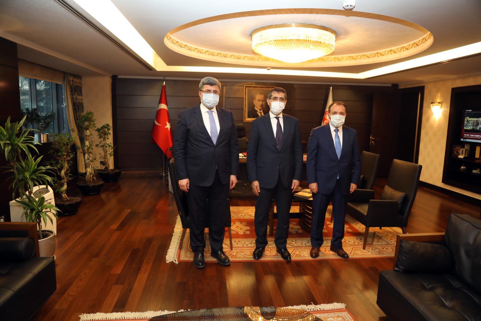 Rektör Karakaş'tan Cumhurbaşkanlığı Strateji ve Bütçe Başkanı Şenel'e Ziyaret