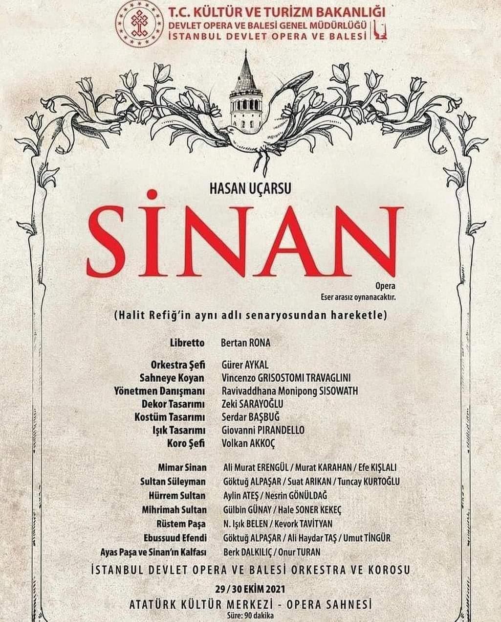 """AKÜ Bilim İnsanı Rona'nın Yazdığı """"Sinan"""" Adlı Opera, İstanbul AKM'de Sahnelenecek"""